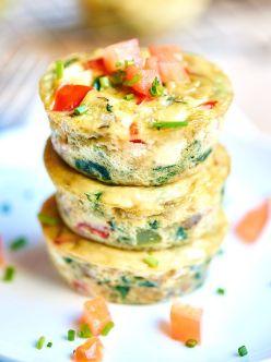 muffins de huevos